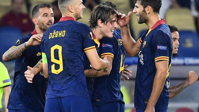 Zaniolo, gol con la Roma e bacio alla sua Sara