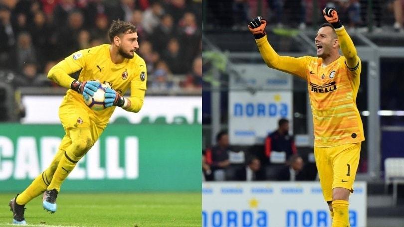 Milan-Inter, i numeri di Donnarumma e Handanovic