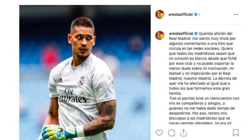 Real Madrid, Areola: dopo la gaffe social arrivano le scuse