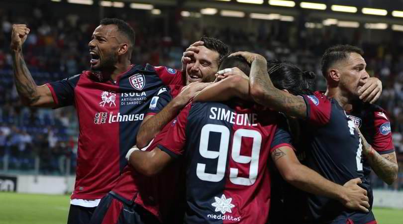 Cagliari-Genoa 3-1: Simeone, autogol Zapata e Joao Pedro
