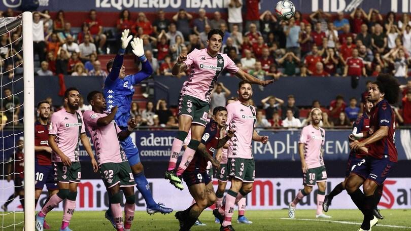 Liga, pareggio senza reti tra Osasuna e Betis