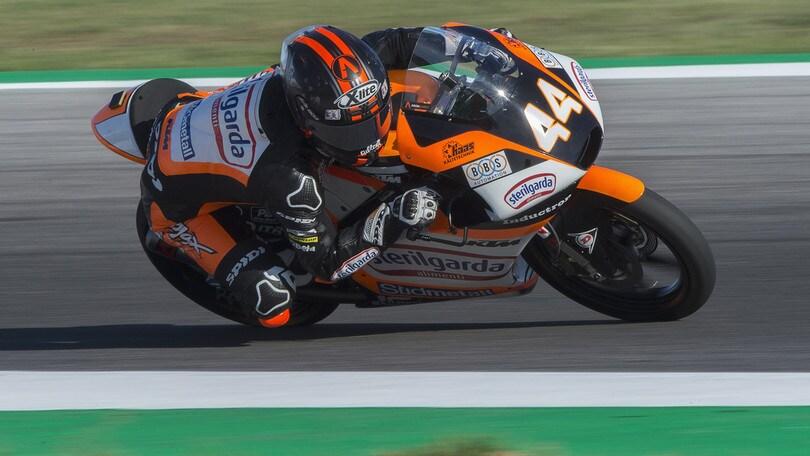 Moto3: pole per Canet ad Aragon, quinto tempo per Vietti