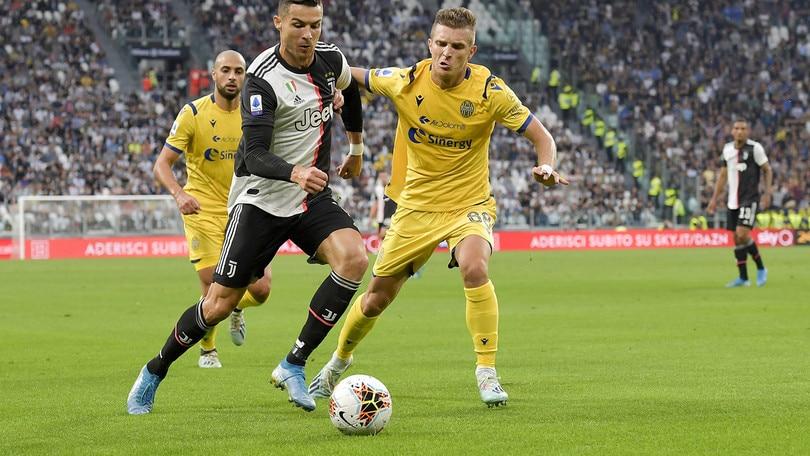 Juventus-Verona 2-1, il tabellino