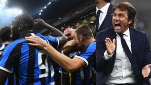 La grinta di Conte è l'arma in più: le  FOTO  più belle della vittoria dell'Inter