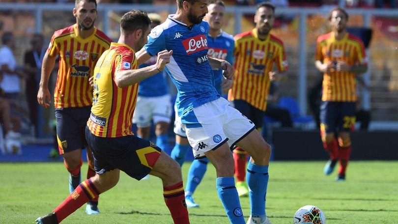 Lecce-Napoli 1-4, il tabellino