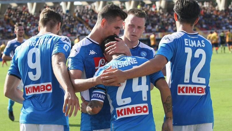 Lecce-Napoli 1-4: Llorente fa volare Ancelotti
