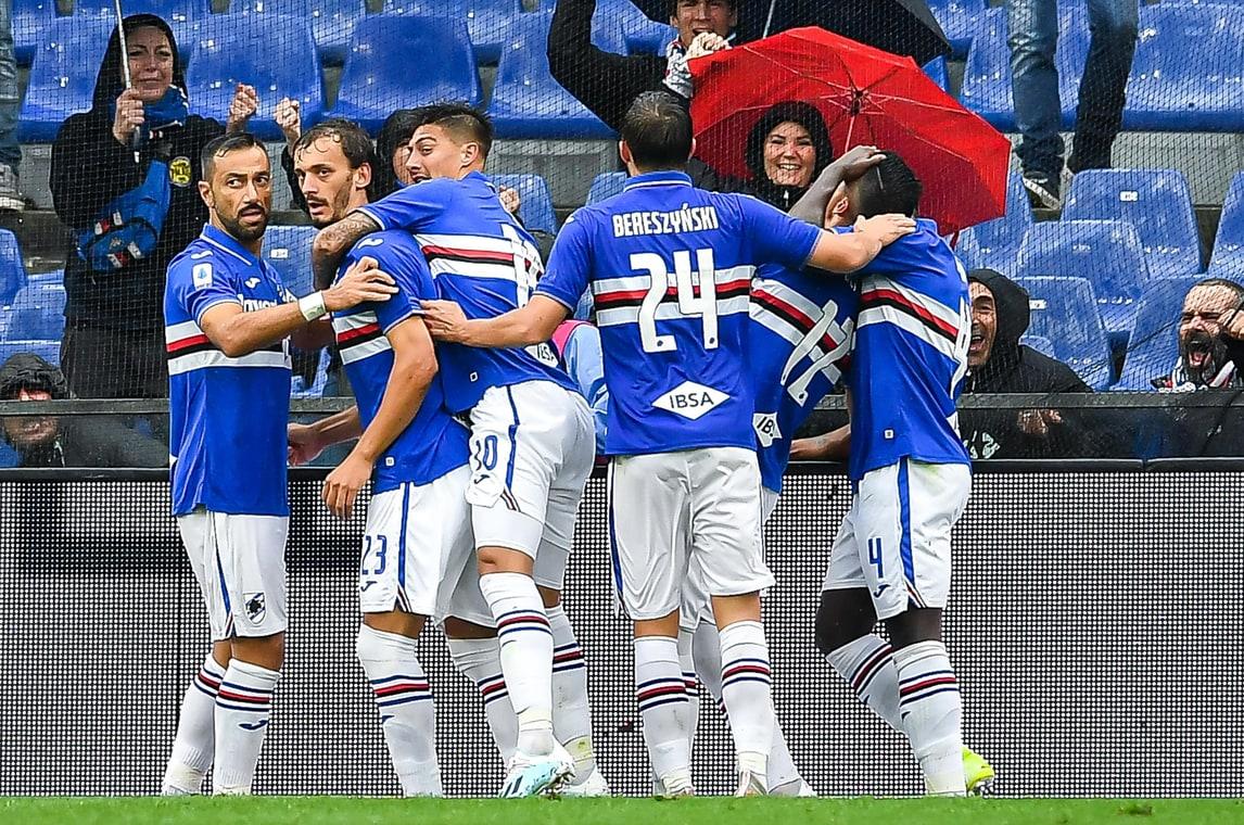 Pioggia e poche occasioni in Samp-Torino: decide Gabbiadini