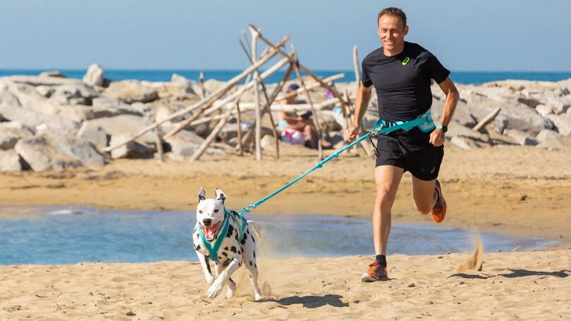 """C'è Stefano Baldini per la """"Dog and Run"""" a Bibione: """"E' divertente"""""""
