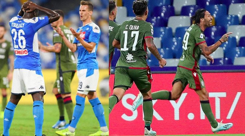 Napoli ko, segna Castro: il Cagliari sbanca il San Paolo