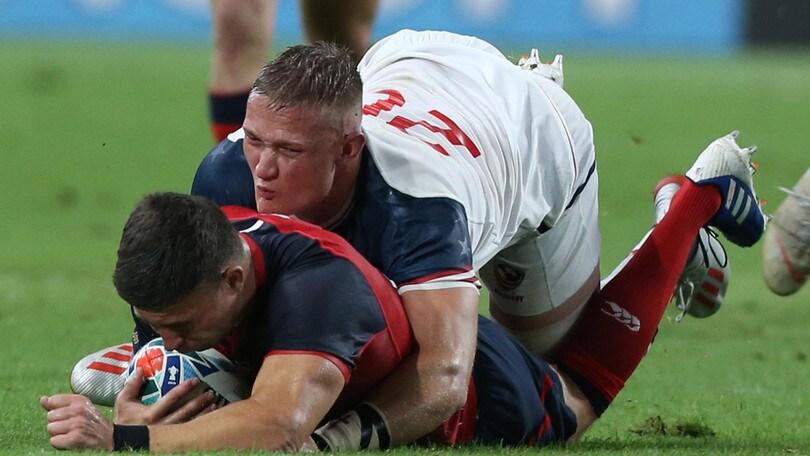 Mondiali di rugby, l'Inghilterra annienta gli Usa: 45-7