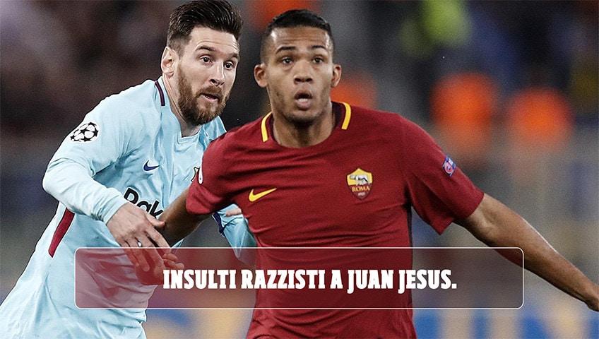 Insulti razzisti a Juan Jesus sui social. La Roma denuncia il tifoso
