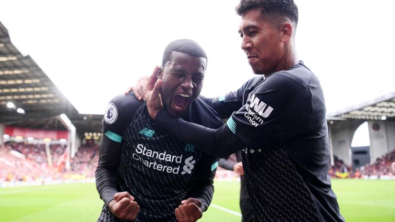Settima vittoria di fila per il Liverpool, tris del Manchester City all'Everton