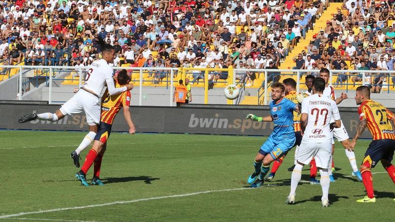 Lecce-Roma 0-1, il tabellino