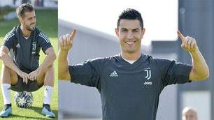 Juve, Ronaldo si carica e Pjanic se la ride