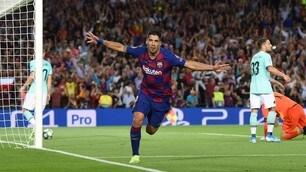 Champions, la doppietta di Suarez stende l'Inter