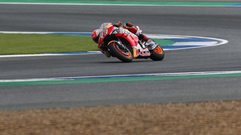 Gp Thailandia: Marquez sesto dopo il botto! Quartararo primo, Rossi quinto