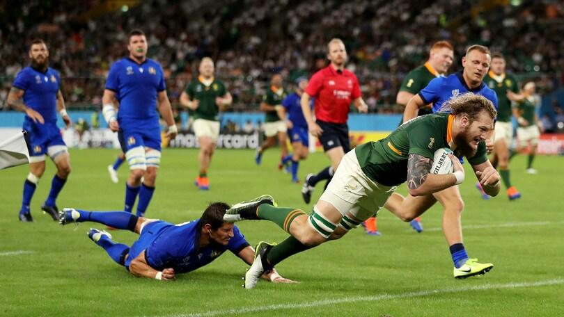Mondiali di rugby: l'Italia cade sotto i colpi del Sudafrica