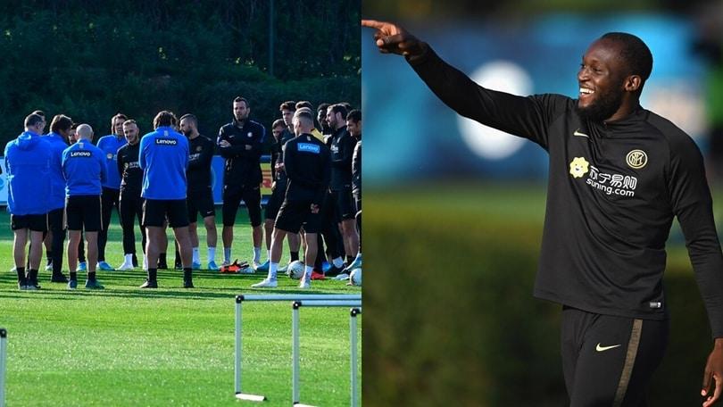 Inter-Juve, discorso di Conte alla squadra. Lukaku c'è