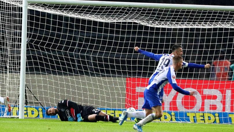 Bundesliga, tris dell'Hertha Berlino al Dusseldorf