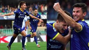 Verona-Sampdoria, la gioia di Kumbulla per il primo gol in Serie A