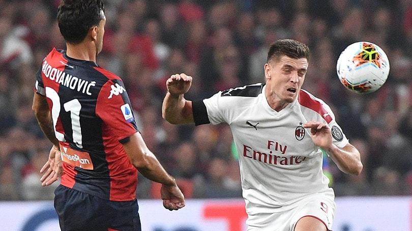 Genoa-Milan 1-2, il tabellino