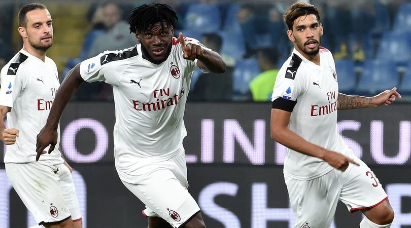 Genoa-Milan 1-2: Giampaolo salvato da Theo, Kessie e Reina