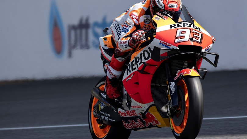 Gp Thailandia, Marquez vola nel Warm Up
