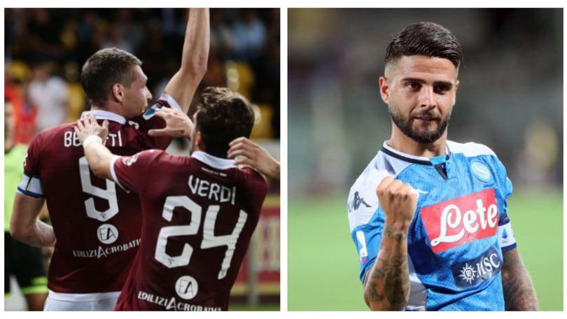 Diretta Torino-Napoli ore 18: formazioni ufficiali e dove vederla in tv