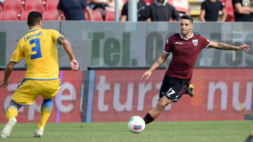 Serie B: Salernitana beffata, il Frosinone trova il pari al 95'