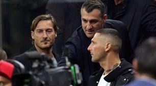 Inter-Juve, anche Totti a San Siro con Vieri e Materazzi