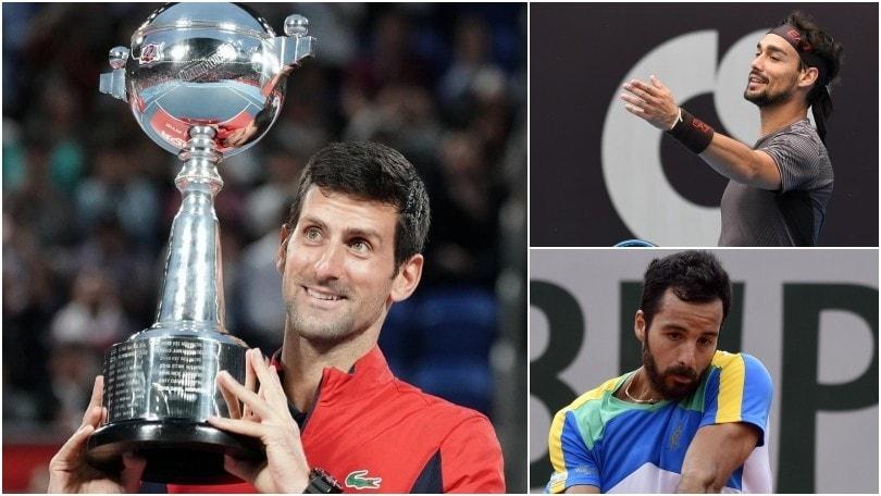 Ranking Atp: Djokovic sempre più numero uno. Otto italiani nella top 100