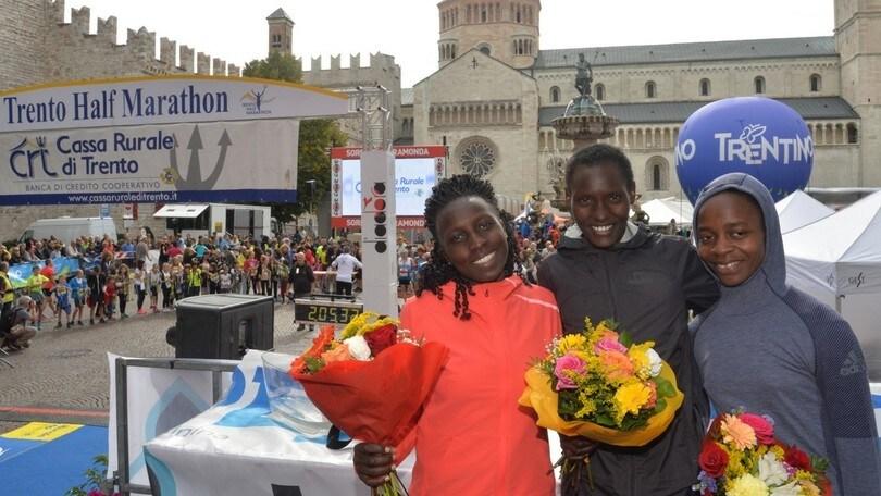 Trento half marathon è da record con Tefera Mosisa e Purity Rionoripo