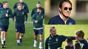 Italia, primo allenamento in maglia verde