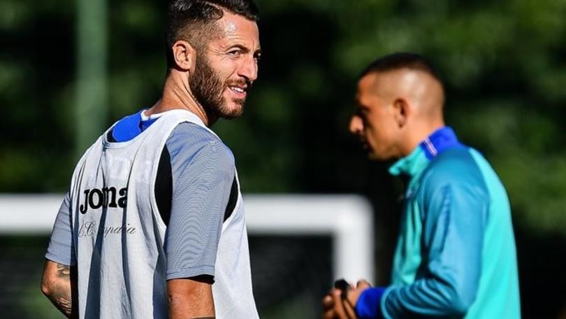 Sampdoria, Palombo dirige l'allenamento: c'è anche Bertolacci