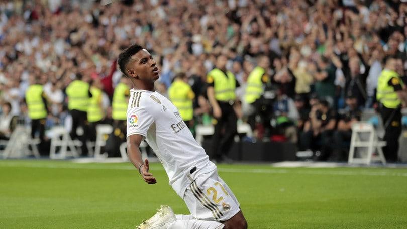 Rodrygo, 95 secondi per il primo gol nel Real Madrid
