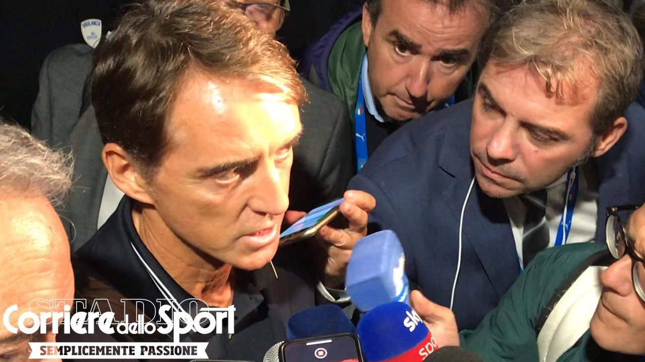 """Mancini al Bambin Gesù: """"Esperienza indimenticabile. La Nazionale è questa"""""""
