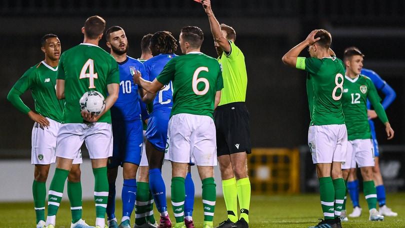 Under 21, pareggio dell'Italia con l'Irlanda: Kean espulso nella ripresa