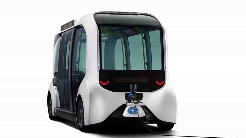 Toyota e-Palette Tokyo 2020, bus green olimpico