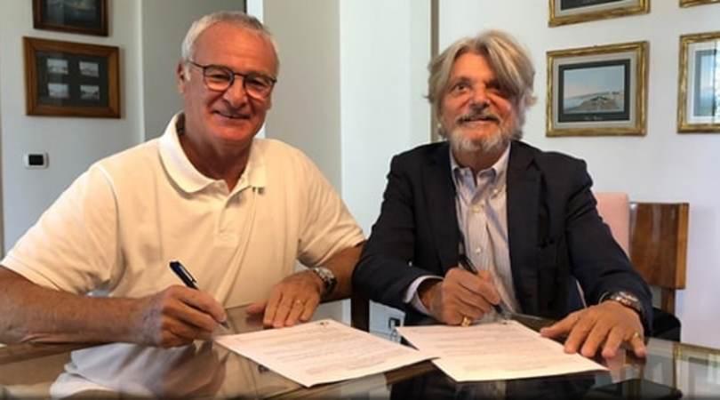 Ranieri alla Sampdoria: è ufficiale. Esordio contro la Roma