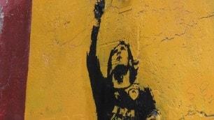 Totti, murales a Rione Monti restaurato