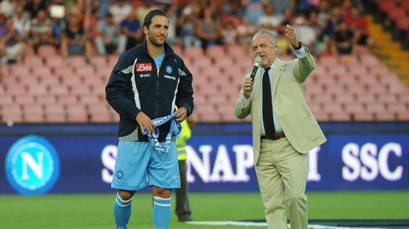 """De Laurentiis: """"Higuain di nuovo al Napoli? Perché no..."""""""