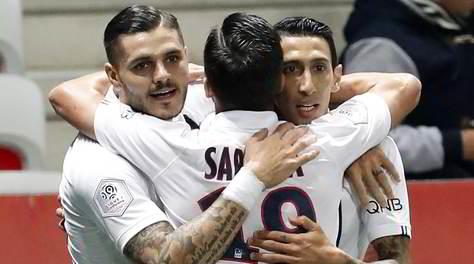 Nizza-Psg 1-4: doppio Di Maria e gol di Icardi e Mbappé
