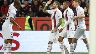 Psg a valanga a Nizza: Icardi ancora in gol