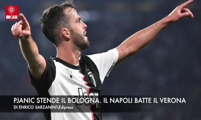Pjanic stende il Bologna. Il Napoli batte il Verona