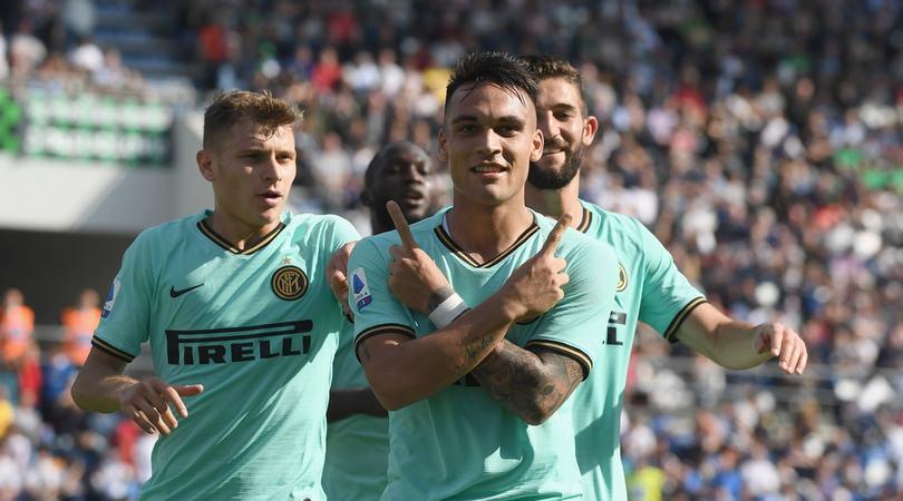 Sassuolo-Inter 3-4: doppiette Lautaro e Lukaku, Conte a -1 da Sarri