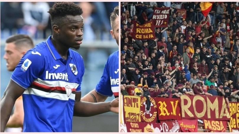 """Buu razzisti a Vieira, la Roma si scusa: """"Mettiamo al bando i responsabili"""""""