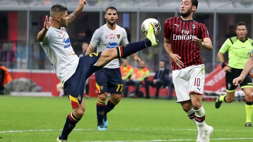 Milan-Lecce 2-2, il tabellino