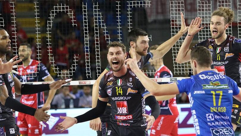 Superlega, vincono le grandi, Perugia a Latina solo al tie break