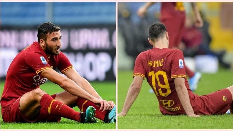 Roma, Kalinic out un mese e mezzo. Cristante, arrivederci al 2020