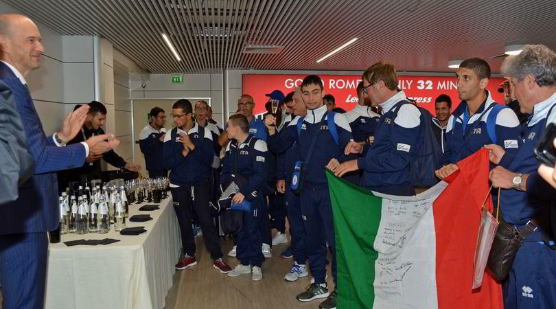 Global Games: azzurri accolti da campioni a Fiumicino
